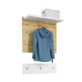 Hängegarderobe mit Kleiderstange Asteichefarben und Weiß (zweiteilig)