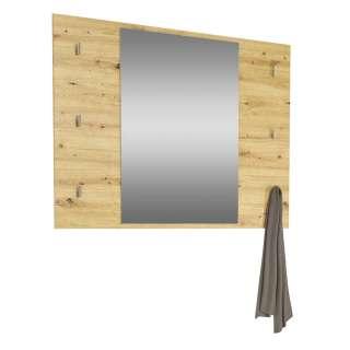 Garderoben Wandspiegel in Asteichefarben Schlüsselhaken