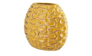 Vase ¦ gelb ¦ Steinzeug Dekoration > Vasen - Höffner