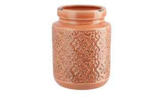 Vase ¦ orange ¦ Steinzeug Ø: 10 Dekoration > Vasen - Höffner