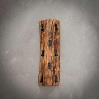 Wandgarderobenleiste aus Akazie Massivholz 8 Kleiderhaken