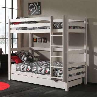 Kinderzimmer Bett aus Kiefer Massivholz lackiert einem Ausziehbett