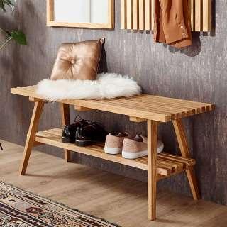 Garderobenbank aus Eiche Massivholz Skandi Design
