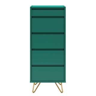 Schminkkonsole in Grün und Gold vier Schubladen