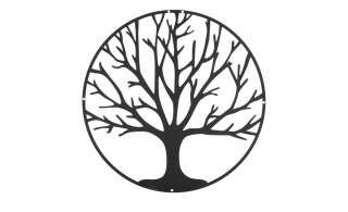 Wanddekoration   Baum ¦ schwarz ¦ Metall Ø: 40 Dekoration > Dekoartikel - Höffner