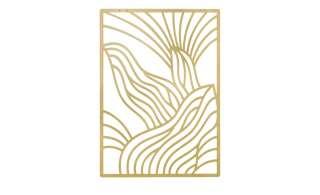 Wanddekoration  Stripes ¦ gold ¦ Metall Dekoration > Dekoartikel - Höffner