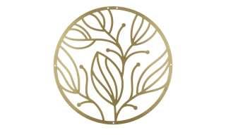 Wanddekoration   Blätter ¦ gold ¦ Metall Ø: 40 Dekoration > Dekoartikel - Höffner
