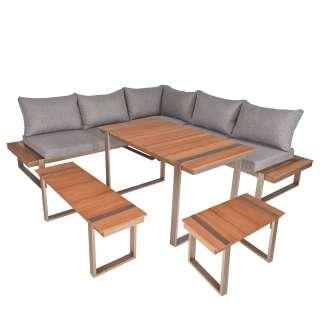 home24 Lounge-Eckgruppe Aurea (6-teilig)
