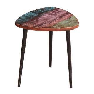 Designtisch im Shabby Chic Stil Recyclingholz und Metall
