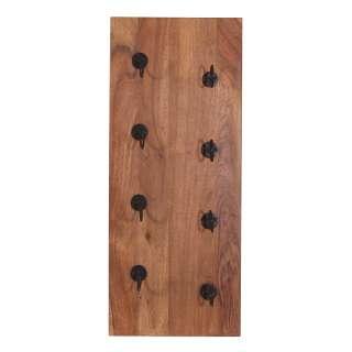 Rustikales Weinregal aus Mangobaum Massivholz Industry und Loft Stil