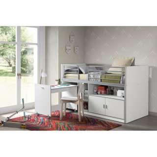 home24 Hochbett Bonny mit Schreibtisch