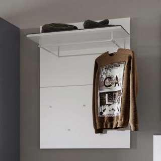 Garderobenpaneel in Weiß und Dunkelgrau 5 Kleiderhaken