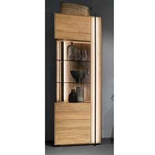 Wohnzimmer Vitrinenschrank in Asteichefarben 1 Tür mit Soft Close