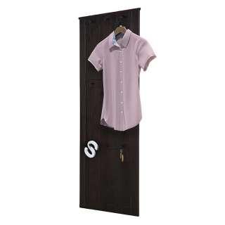 Garderobe Massivholz in Wengefarben 9 Kleiderhaken