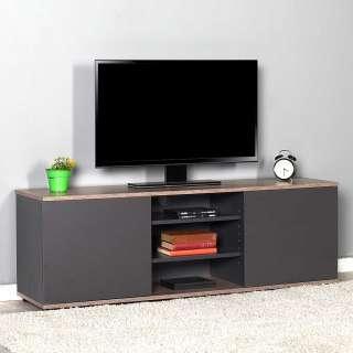 Fernsehmöbel in Anthrazit und Holzoptik melaminbeschichtet