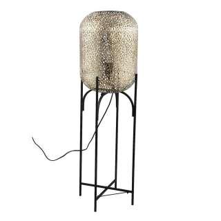 Stehlampe in Schwarz und Goldfarben 110 cm hoch