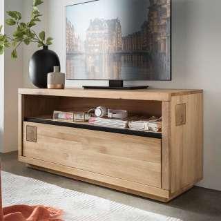 Modernes TV Lowboard aus Wildeiche Massivholz geölt