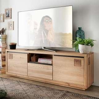 TV Board aus Wildeiche Massivholz 170 cm breit