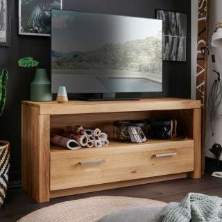 TV Lowboard aus Wildeiche Massivholz einer Schublade