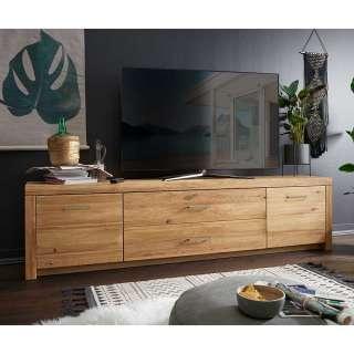 TV Board aus Wildeiche Massivholz 2 türig mit Soft Close
