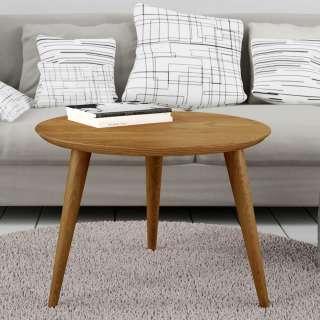 Beistelltisch Sofa in Eichefarben MDF und Massivholz