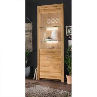 Wildeiche Vitrine in modernem Design 2 Türen mit Soft Close