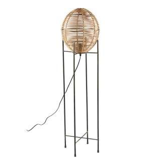 Stehleuchte im Landhausstil Bambus und Metall
