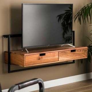 Wand Fernsehboard aus Akazie Massivholz Metall