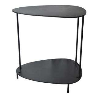 Metall Wohnzimmer Tisch in Schwarz Tischplatte in Wankelform