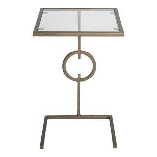 Anstelltisch in modernem Design Glas und Metall