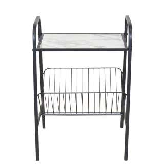 Zeitschriftenständer aus Stahl Tischplatte