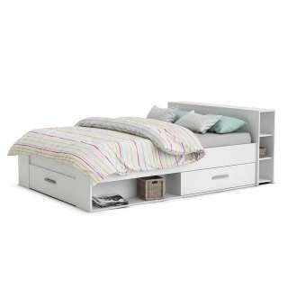 Schubladenbett in Weiß modernem Design