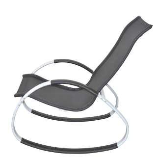 Schaukelstuhl für draußen in Schwarz Gestell aus Metall