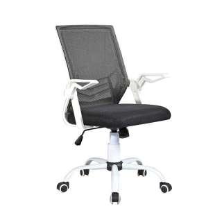 Computerstuhl in Schwarz und Weiß Lendenwirbelstütze