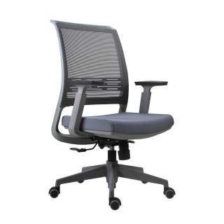 Ergonomischer Bürostuhl in Grau verstellbaren Armlehnen