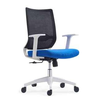 Computerstuhl in Schwarz Blau Weiß Lendenwirbelstütze