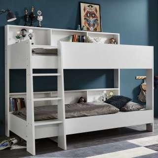 Kinderzimmer Stockbett in Weiß foliert 2 Liegeflächen