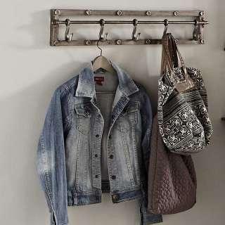 Industrie Stil Garderobe in Anthrazit Vintage Stahl