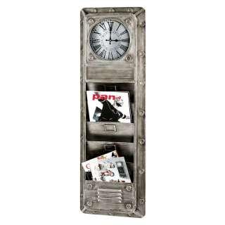 Wand Memoboard inklusive Uhr Industry und Loft Stil