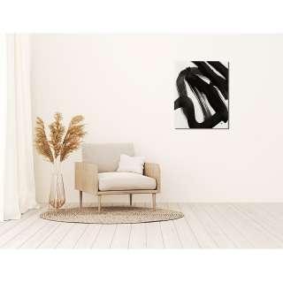home24 Bild Abstract black ink brush stroke