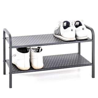 Schuhregal aus Stahl Grau pulverbeschichtet