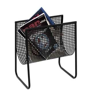 Moderner Zeitschriftenständer aus Metall Schwarz