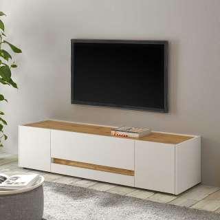 TV Kommode in Weiß und Wildeiche Optik 170 cm breit