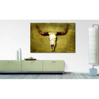 home24 Leinwandbild Buffalo Bull