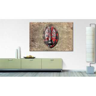 home24 Wandbild Maske Red