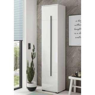 Badezimmer Hochschrank in Weiß Hochglanz Dekor tiefgezogen