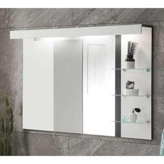 Badezimmerspiegel mit Glasablagen LED Beleuchtung