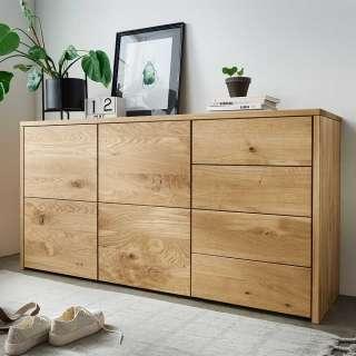 Esszimmersideboard aus Wildeiche Massivholz vier Schubladen zwei Türen