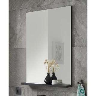 Badezimmerspiegel mit Ablage Schwarz
