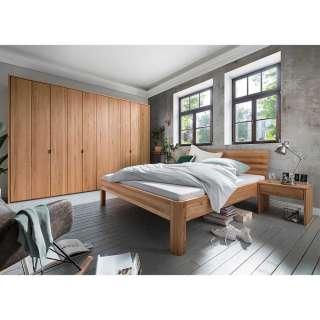 Schlafzimmer Möbel aus Kernbuche Massivholz geölt modern (vierteilig)